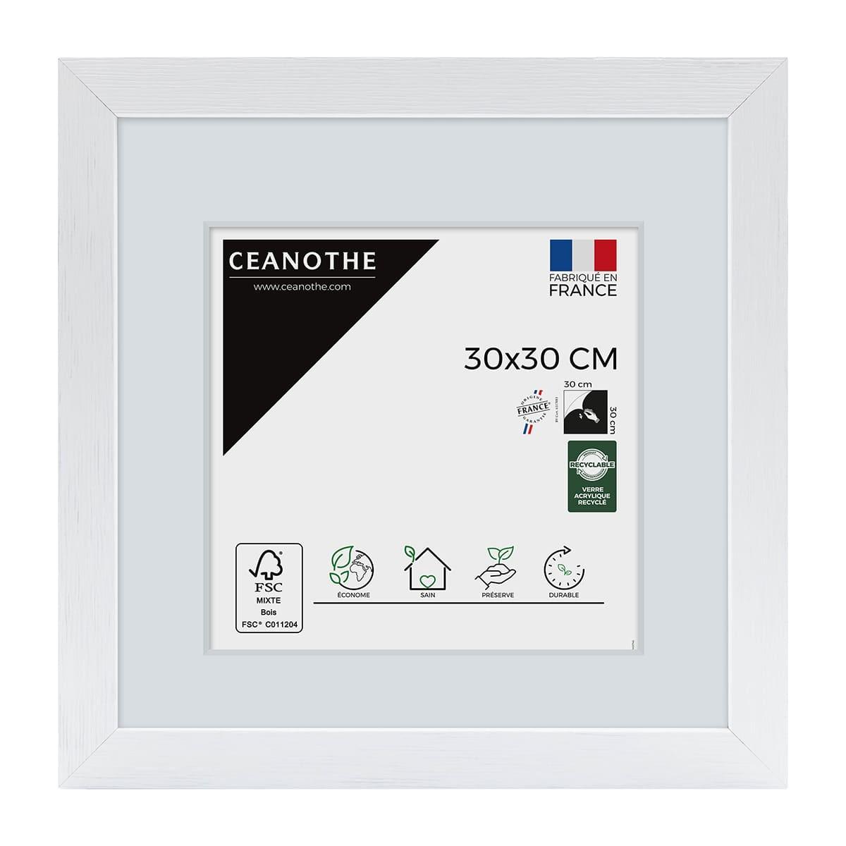 Cadre photo blanc 30x30cm