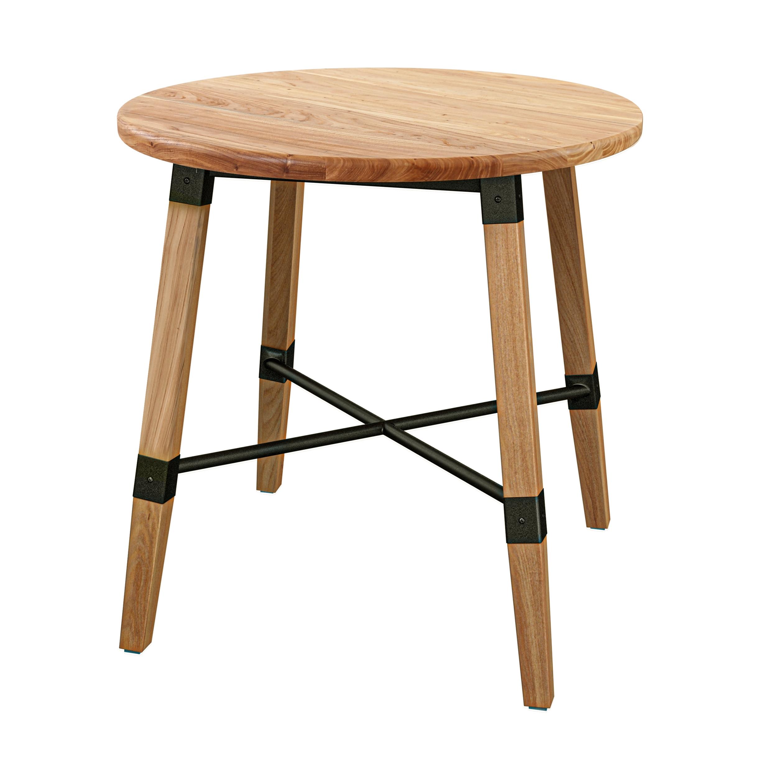 Table ronde en bois de cèdre 2 personnes