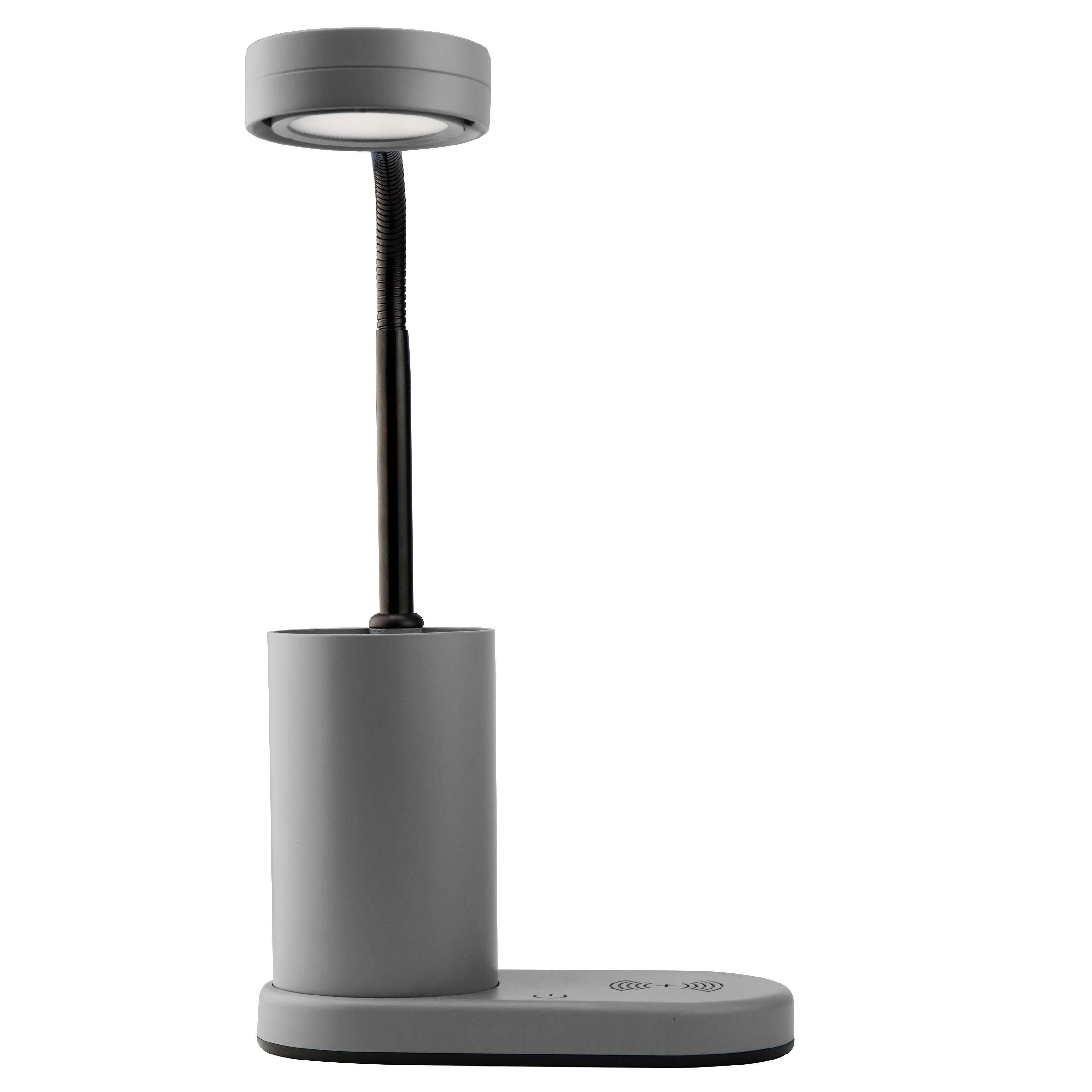 Lampe de bureau en pvc anthracite