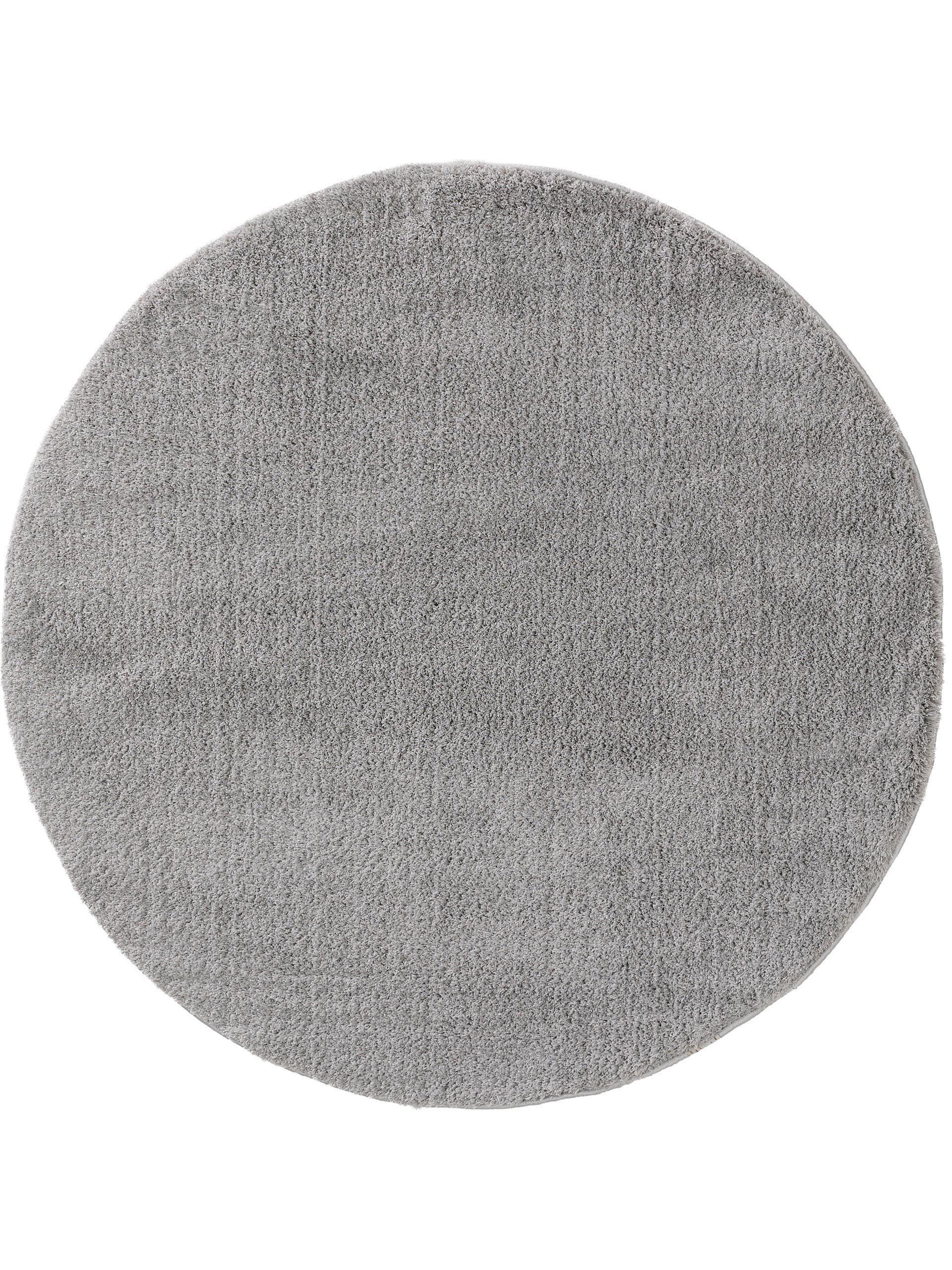 Tapis à poils longs rond gris D 120