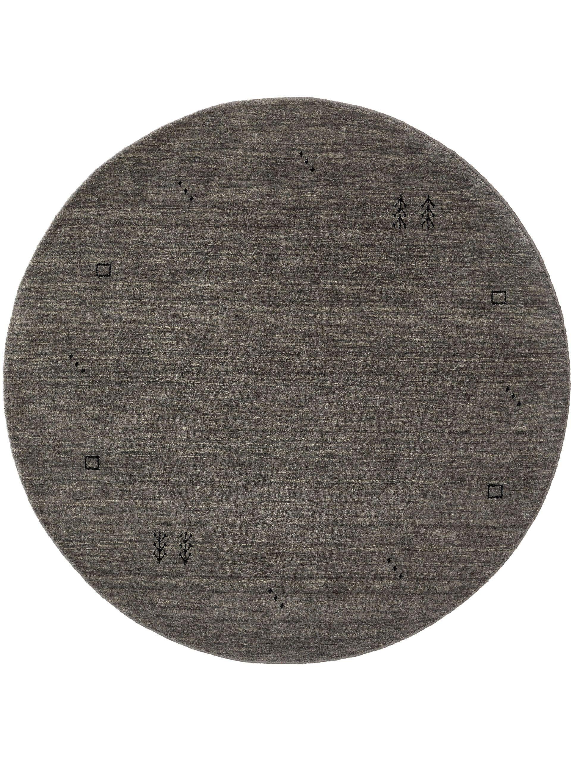 Tapis gabbeh rond gris D 200