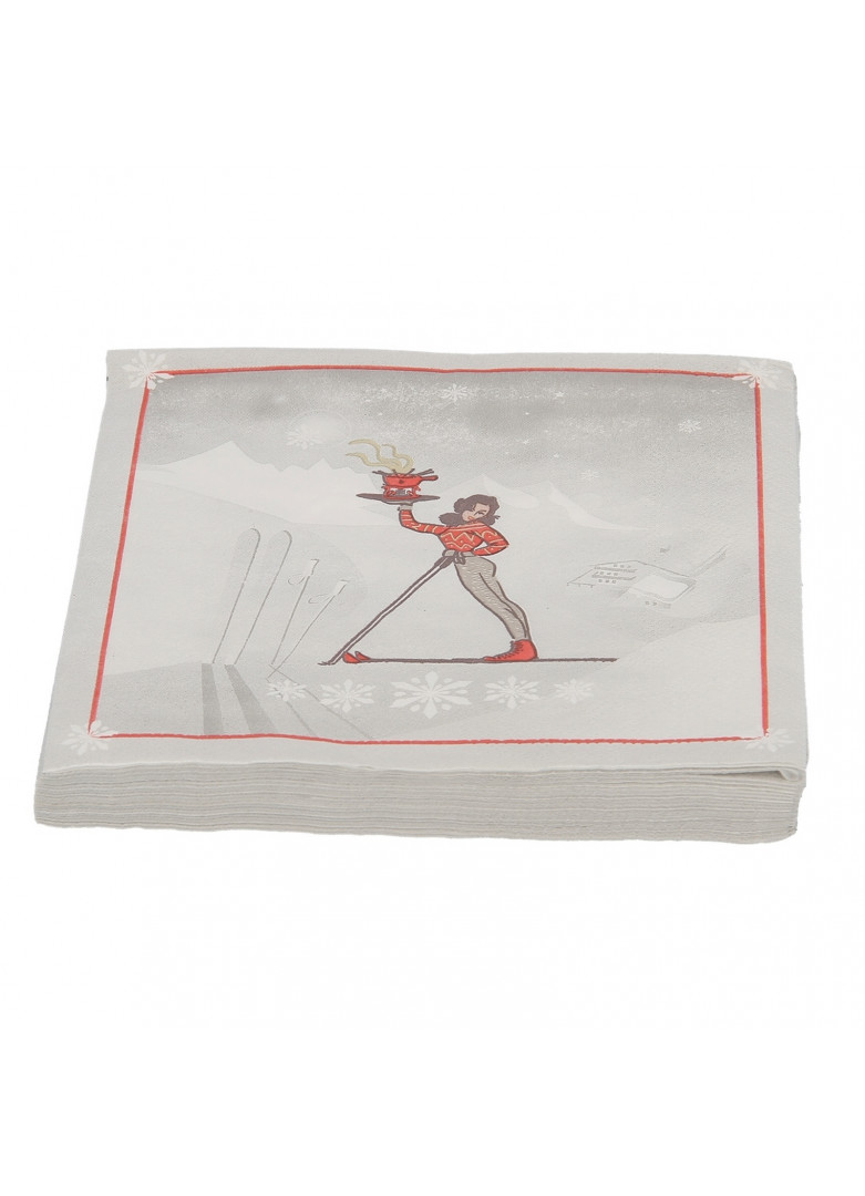 Serviettes papier skieuse (X20)