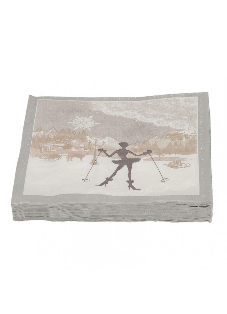 Serviettes papier lady snow (x20)