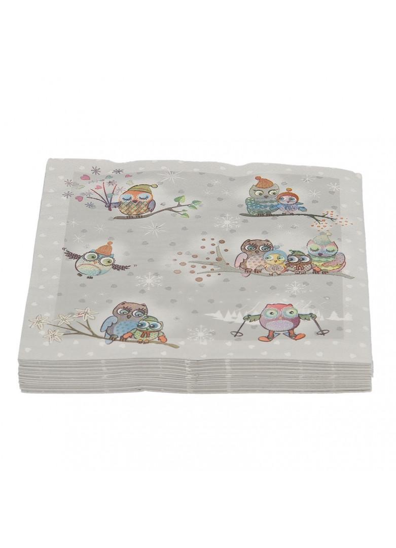 Serviettes papier chouette (x20)