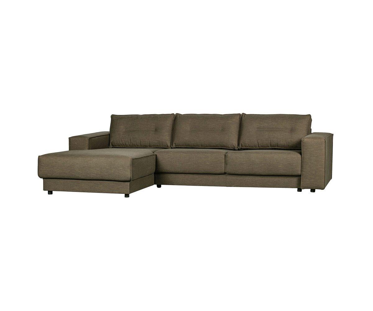 Canapé d'angle 4 places Tissu Contemporain Confort Vert