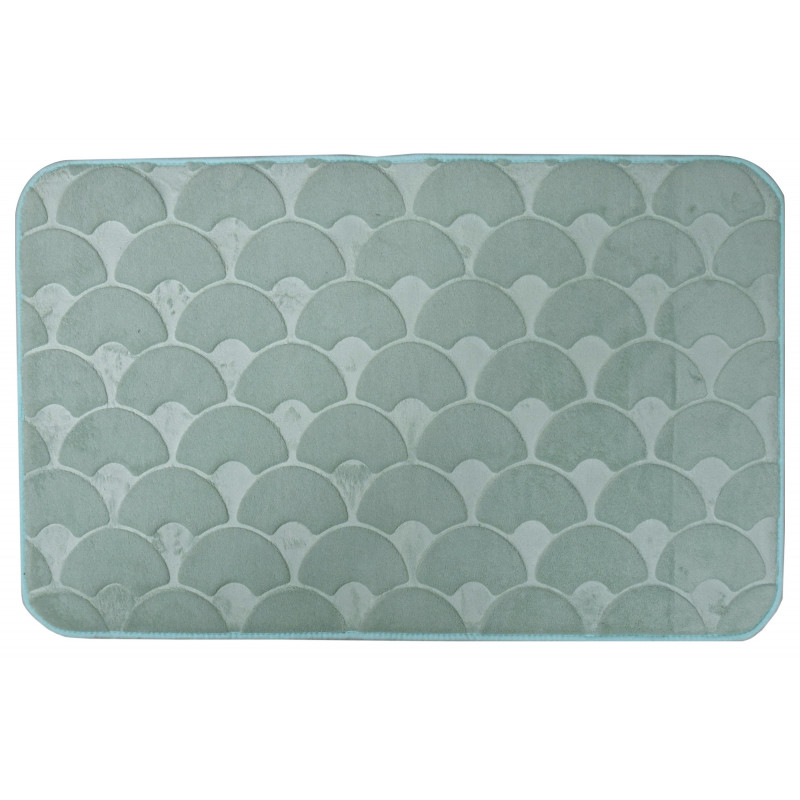 Tapis de bain 50x80 cm Ecaillon Jade