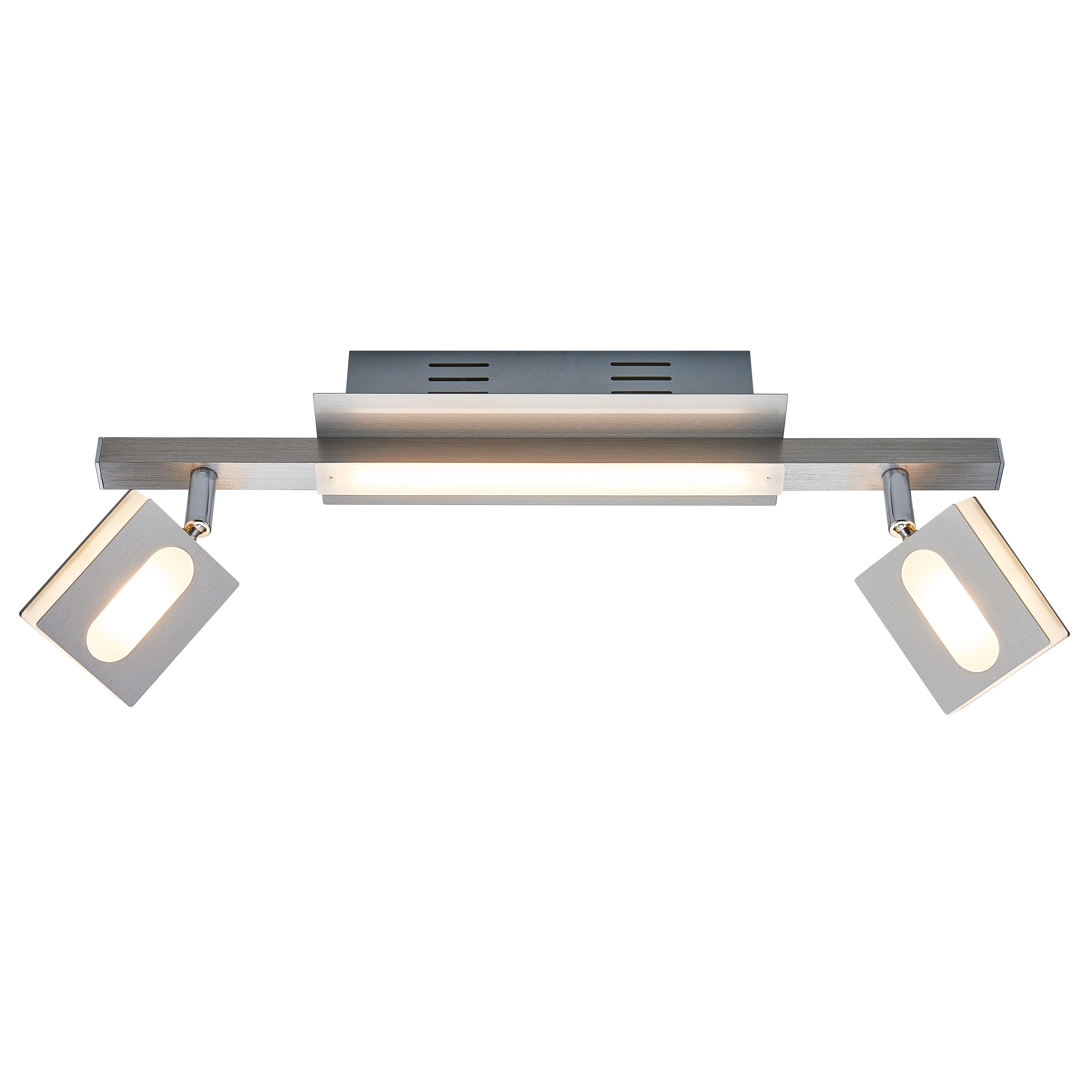 Plafonnier en métal argenté