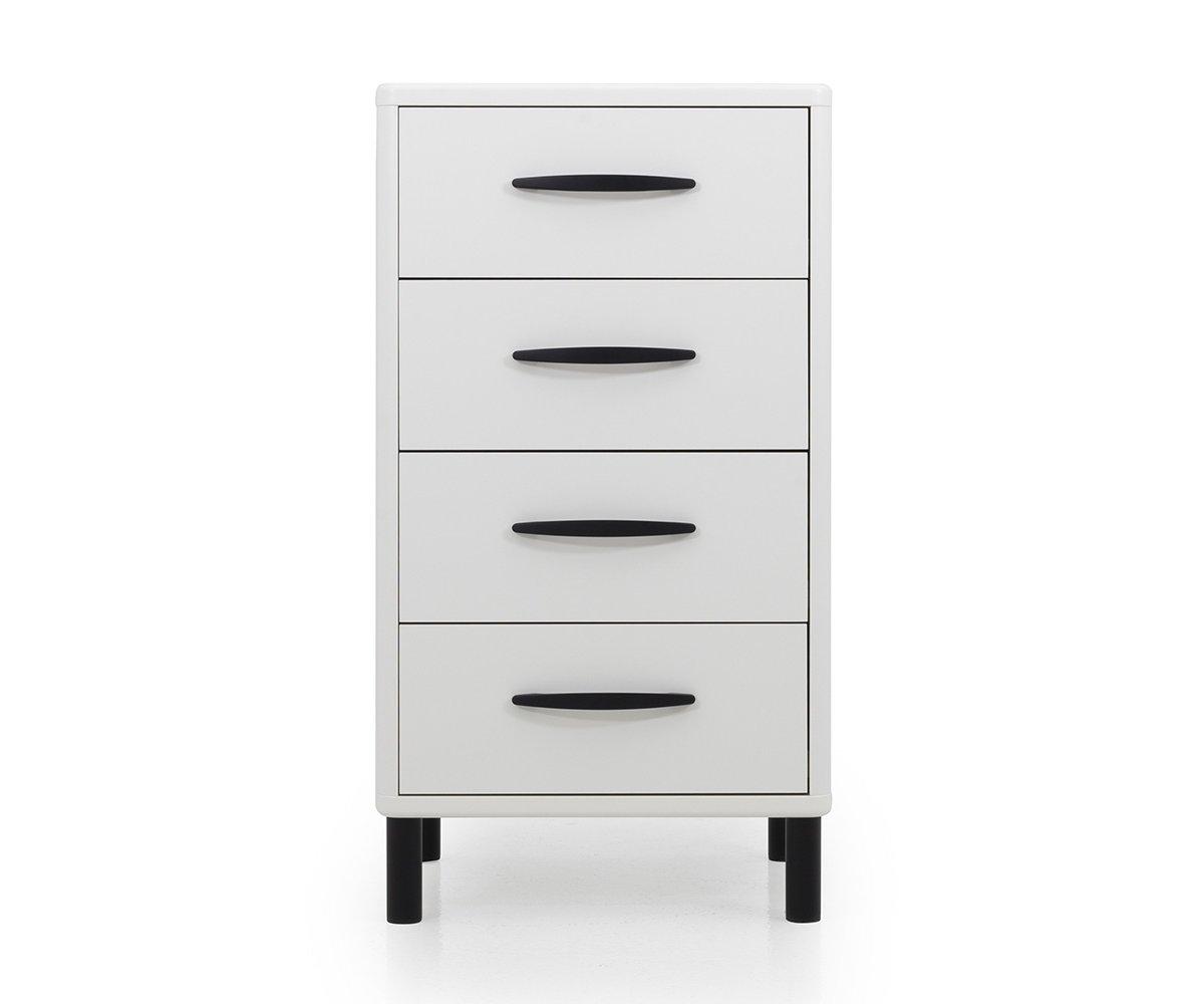 Meuble de rangement 4 tiroirs en bois Blanc