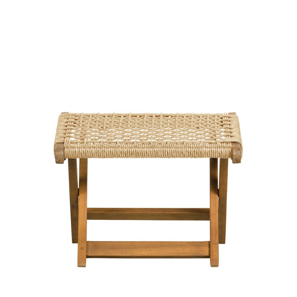 Repose-pieds design intérieur extérieur en bois