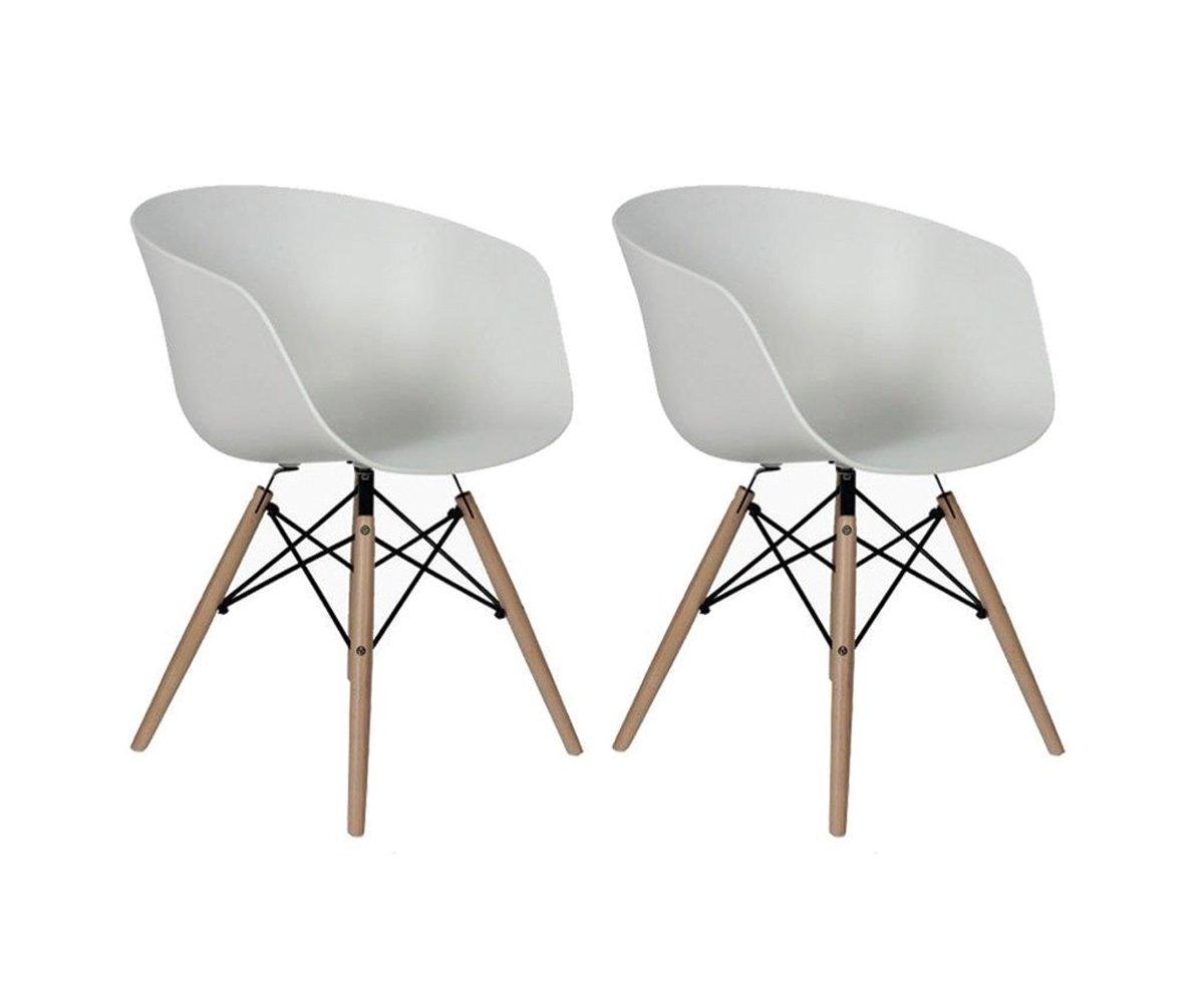 Lot de 2 chaises scandinaves Blanc