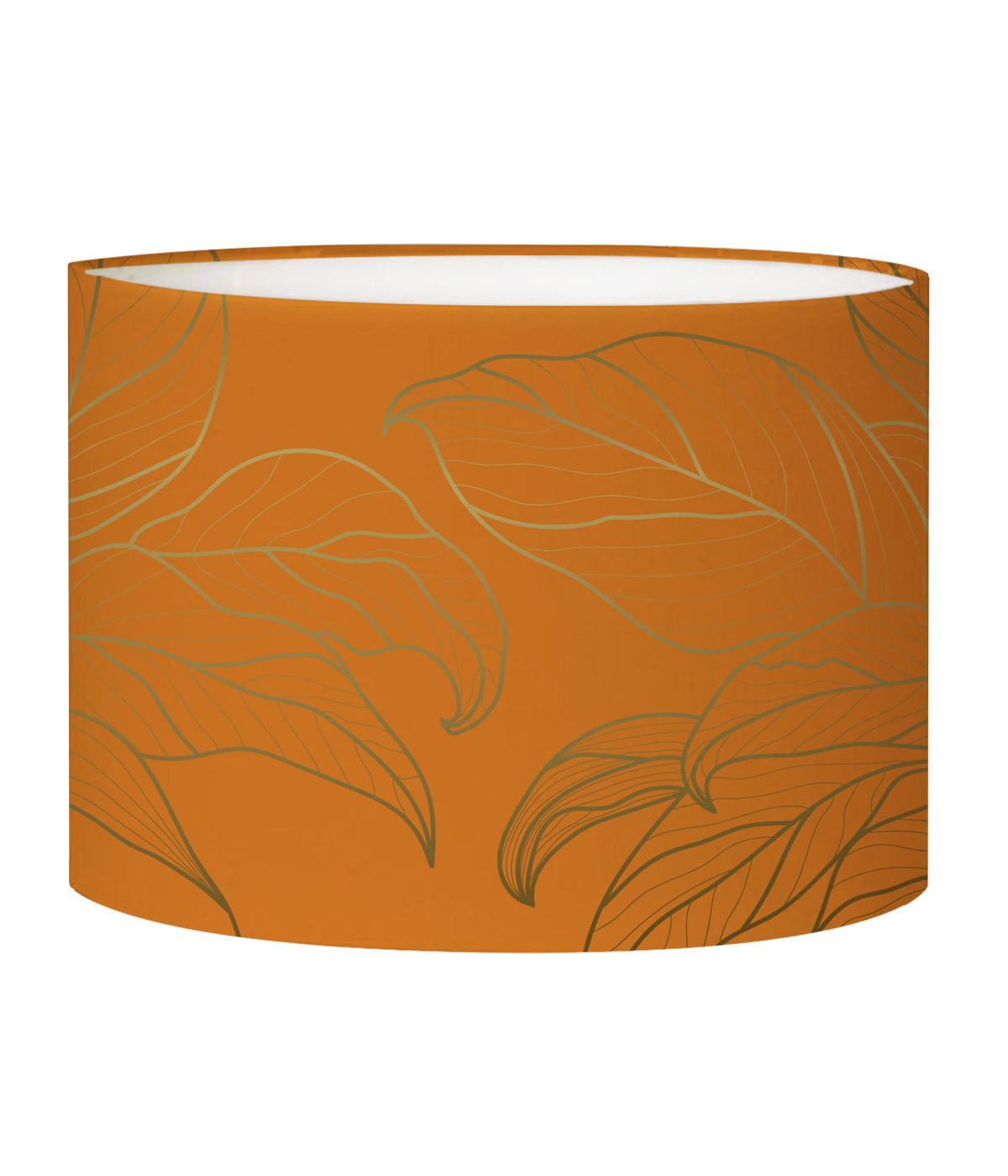 Abat-jour Lampadaire feuille orange acidulé D 45 x H 25