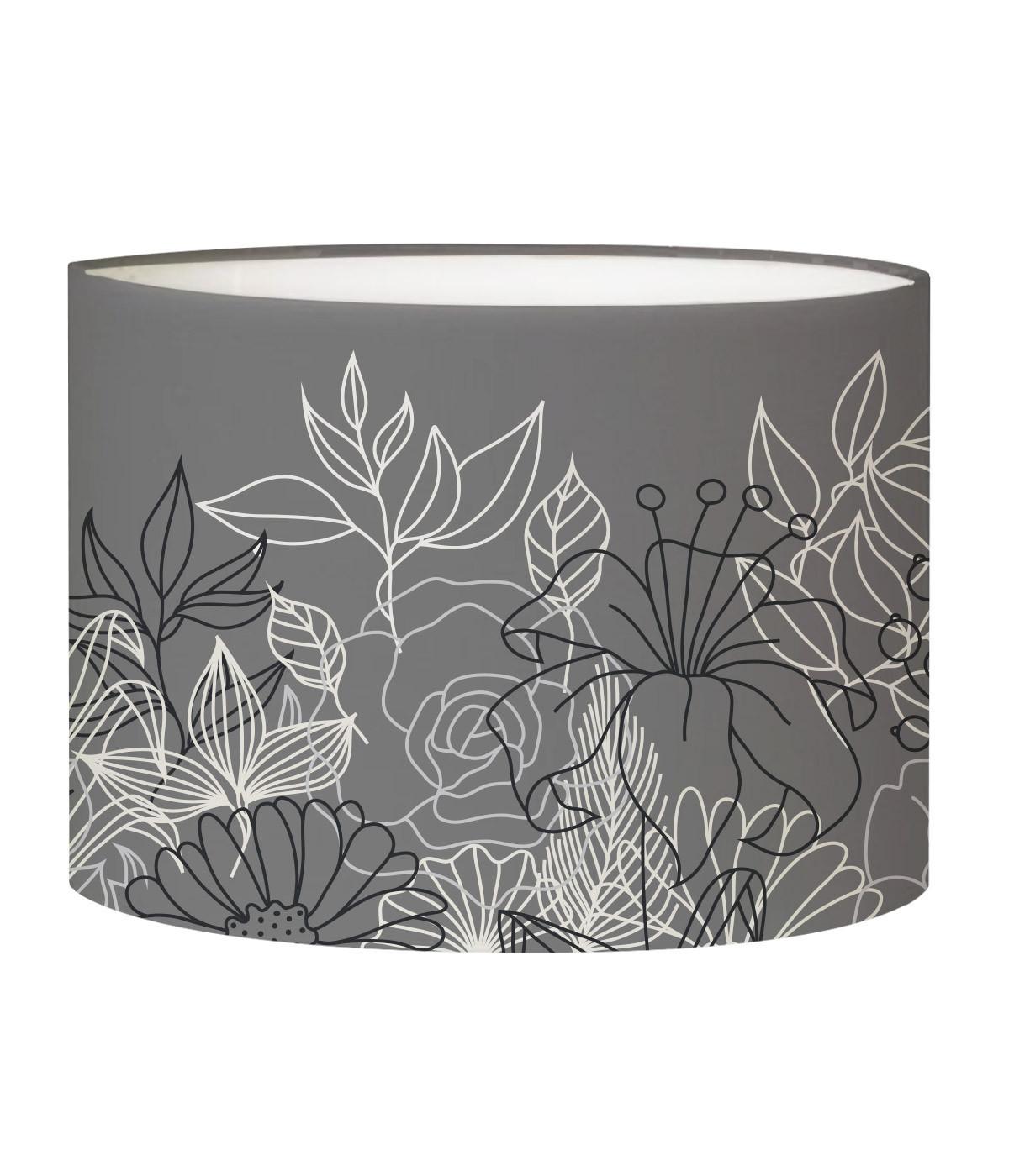 Abat-jour lampadaire gris D 45 cm