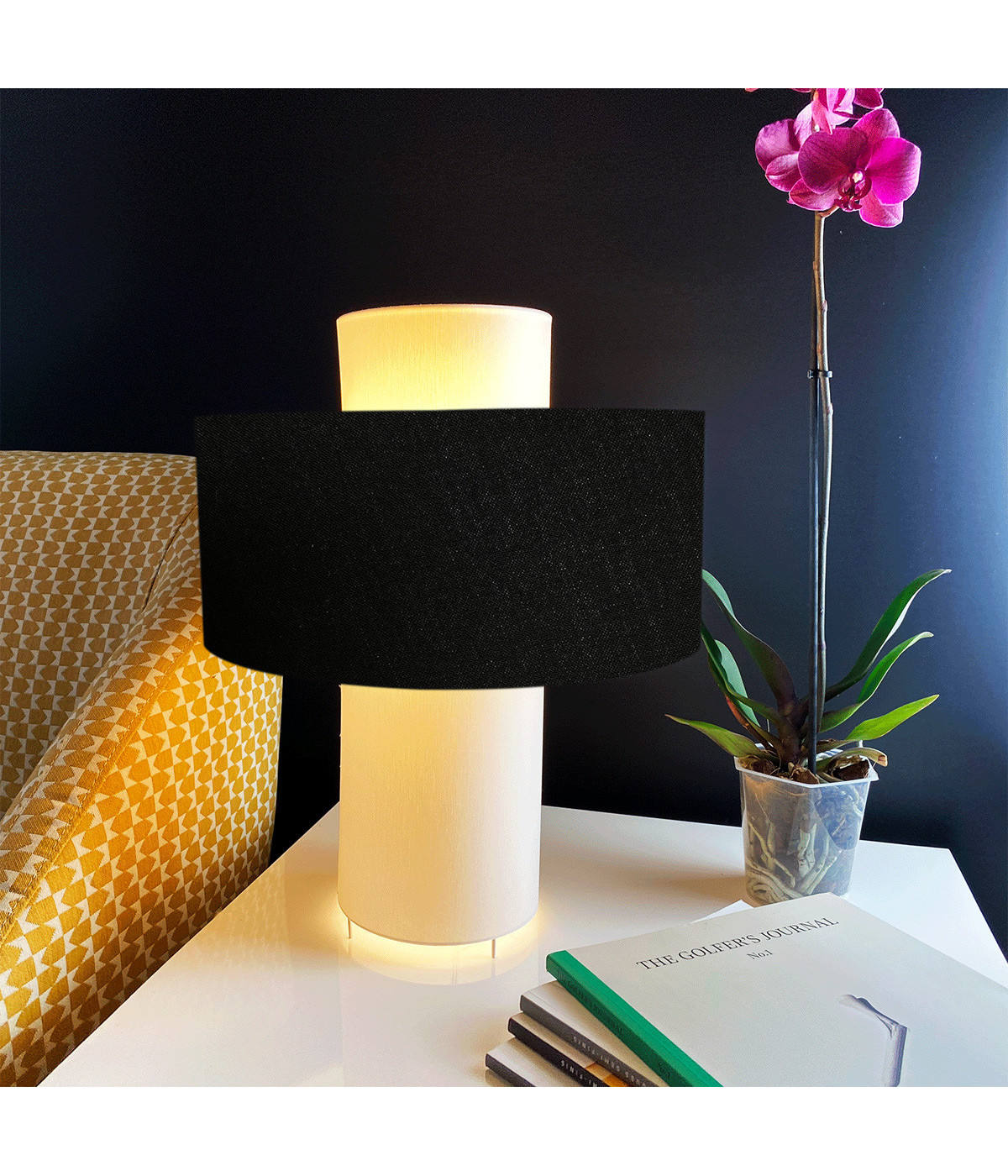 Lampe noir D 35 cm