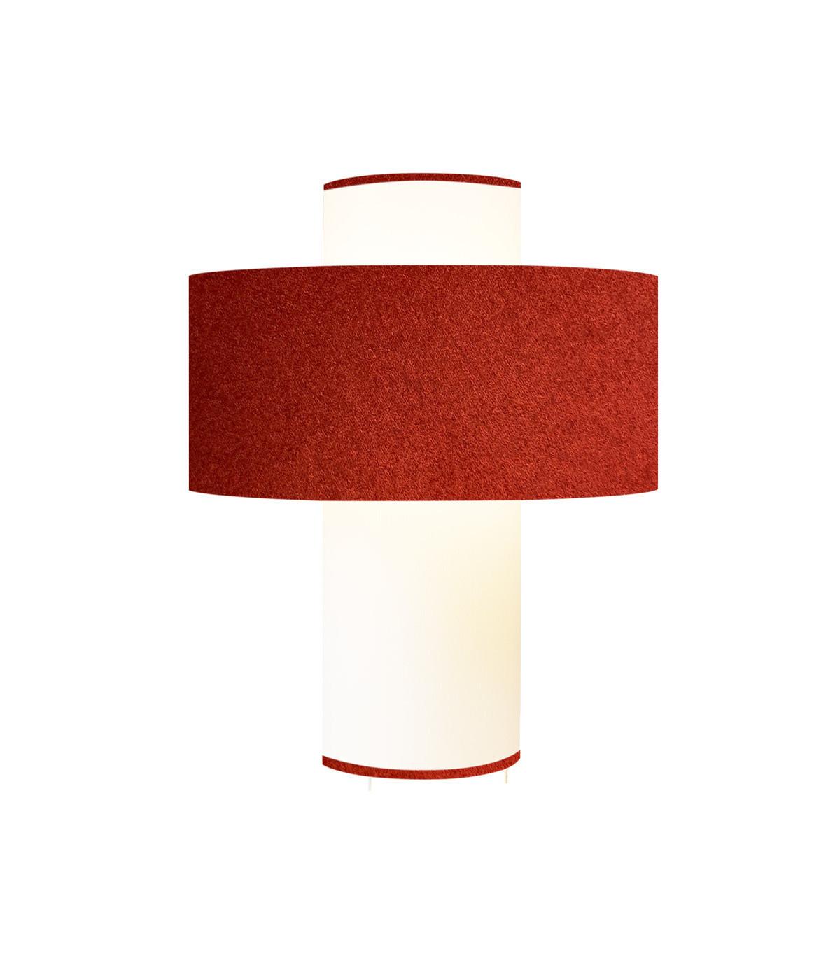 Lampe rouge D 35 cm