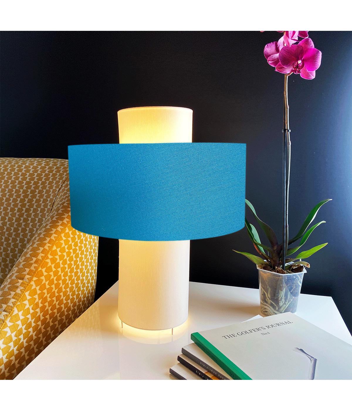 Lampe bleu turquoise D 35 cm