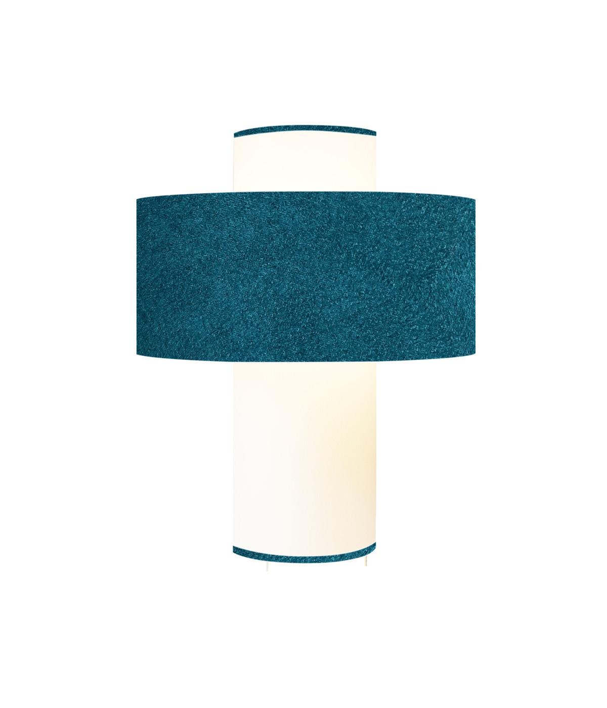 Lampe bleu doux D 35 cm