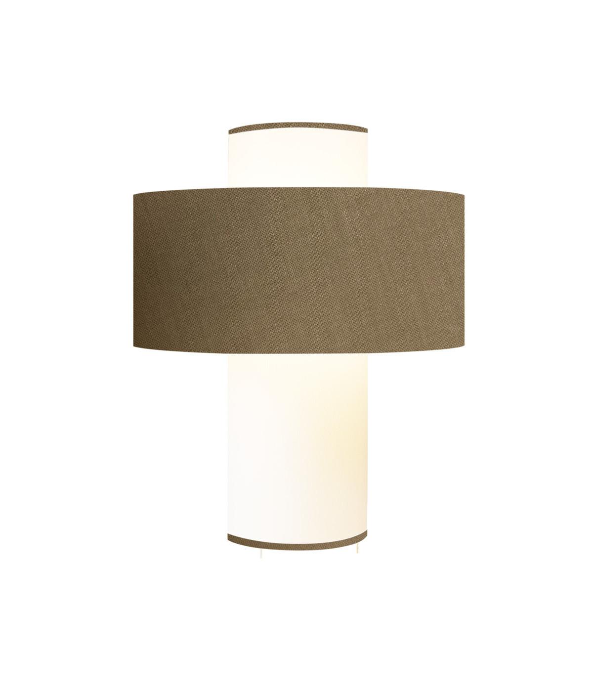 Lampe taupe D 35 cm