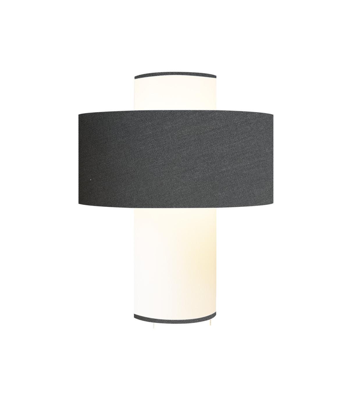 Lampe gris D 35 cm