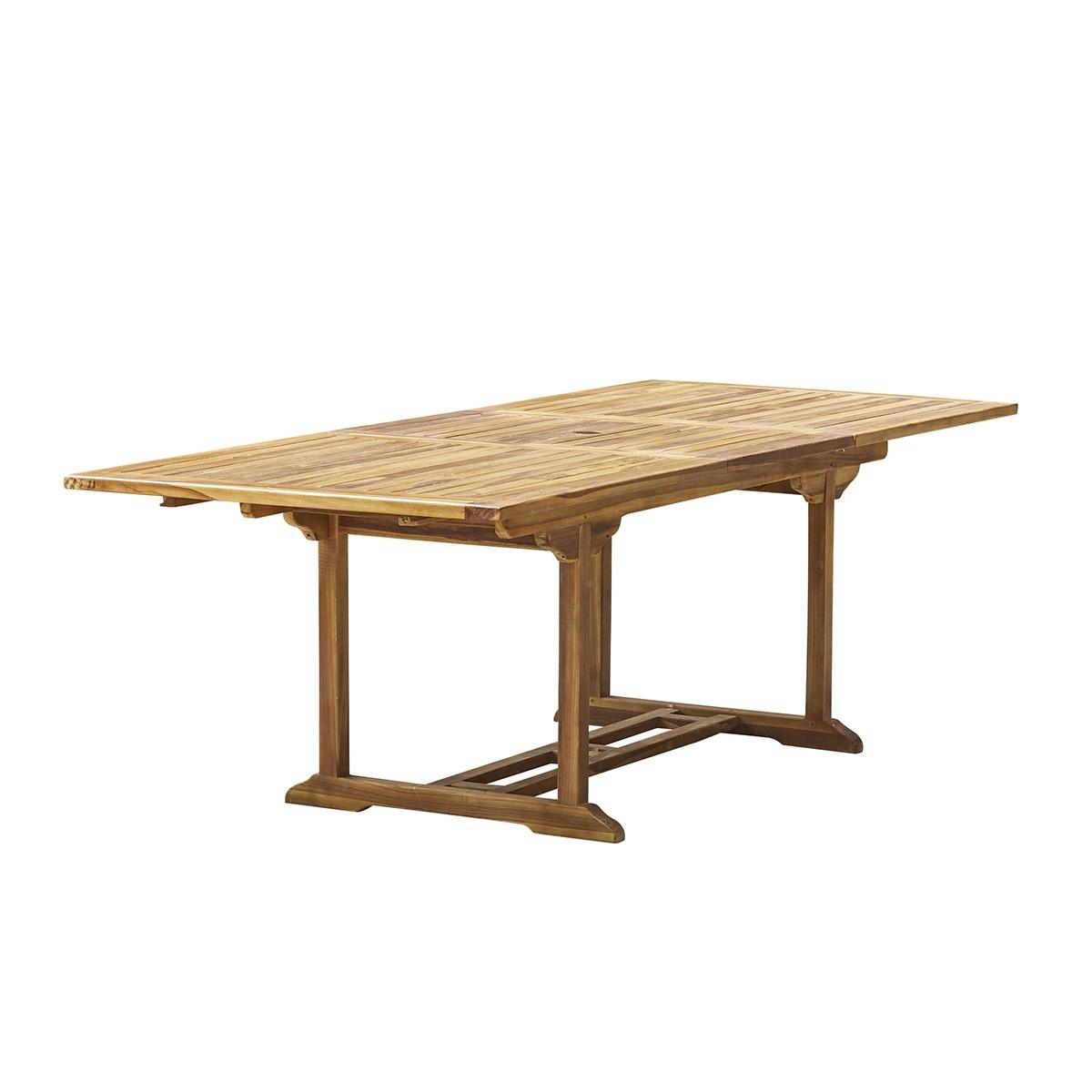 Table de jardin extensible en teck huilé 8/10 places