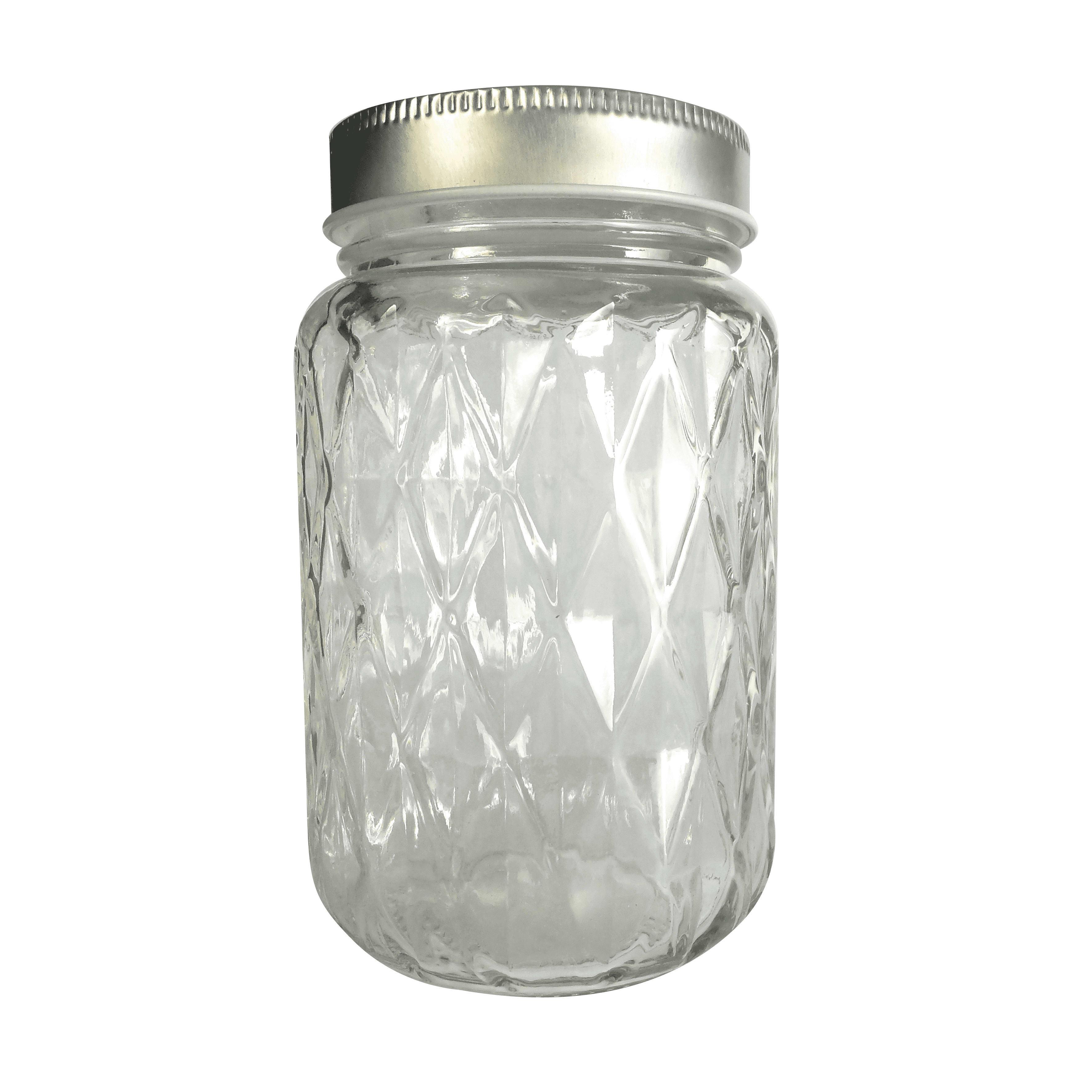 Bocal mason jar avec couvercle 37,5cl