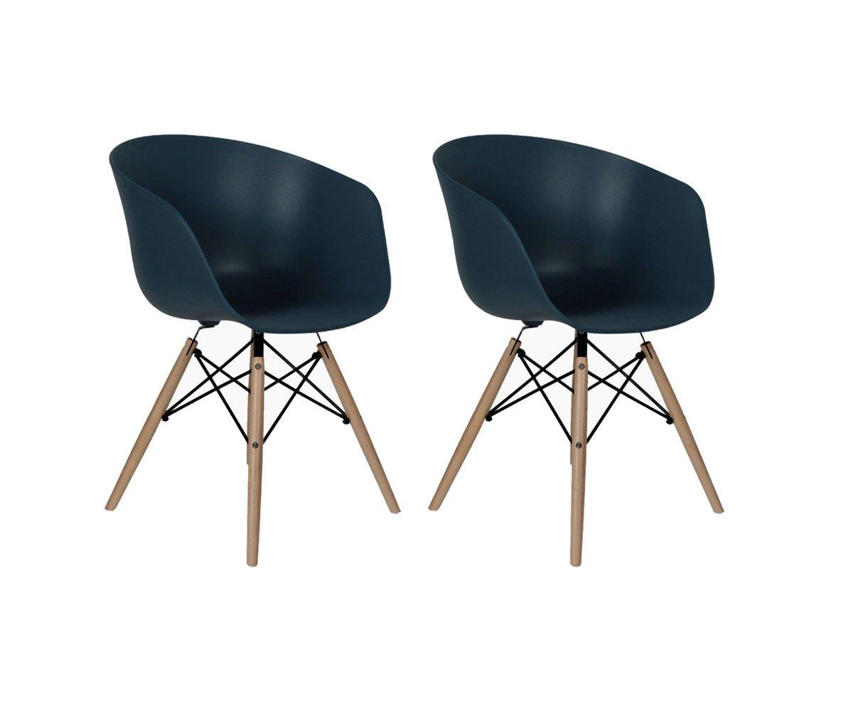 Lot de 2 chaises scandinaves Colvert
