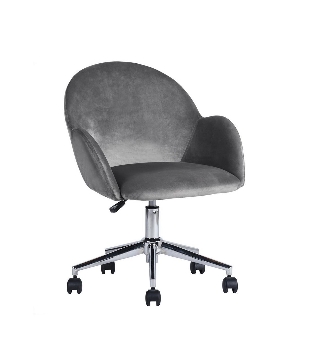 Chaise de bureau à roulettes avec accoudoirs - Gris