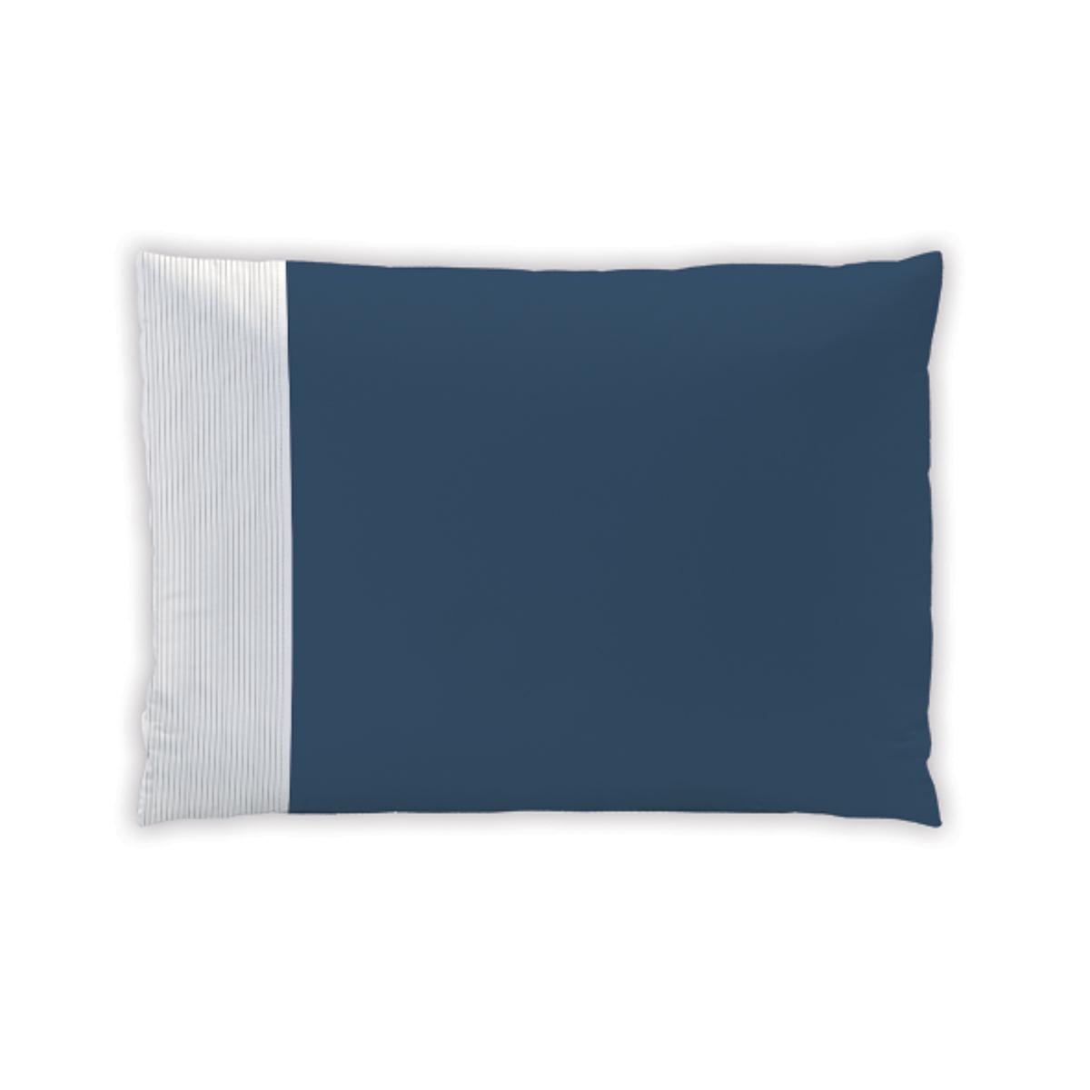 Taie d'oreiller plissée en coton 50x70 cm