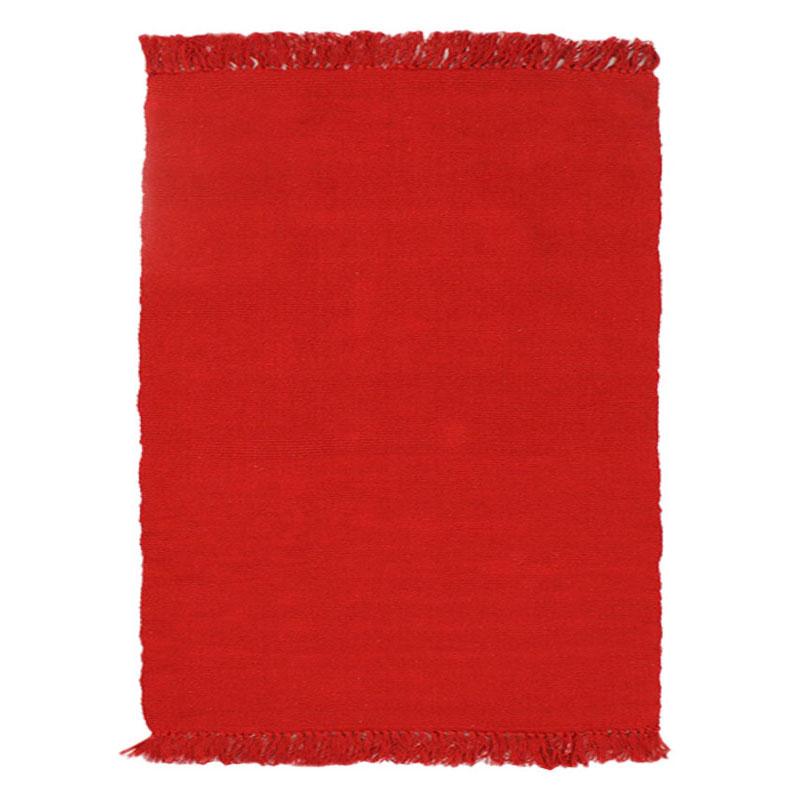 Tapis 100% coton rouge 120x170