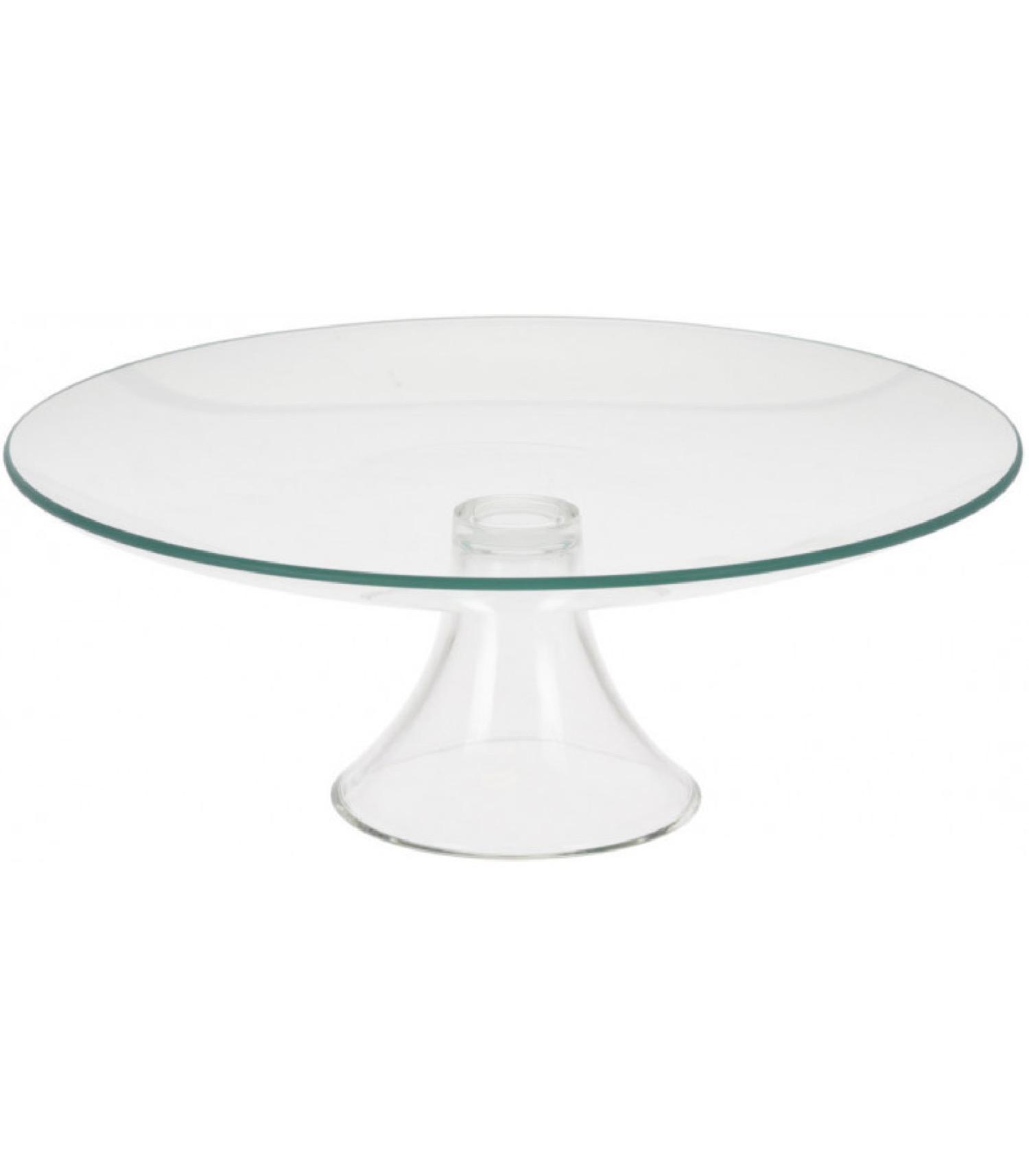 Présentoir à gâteau / tarte sur pied rond en verre D31cm