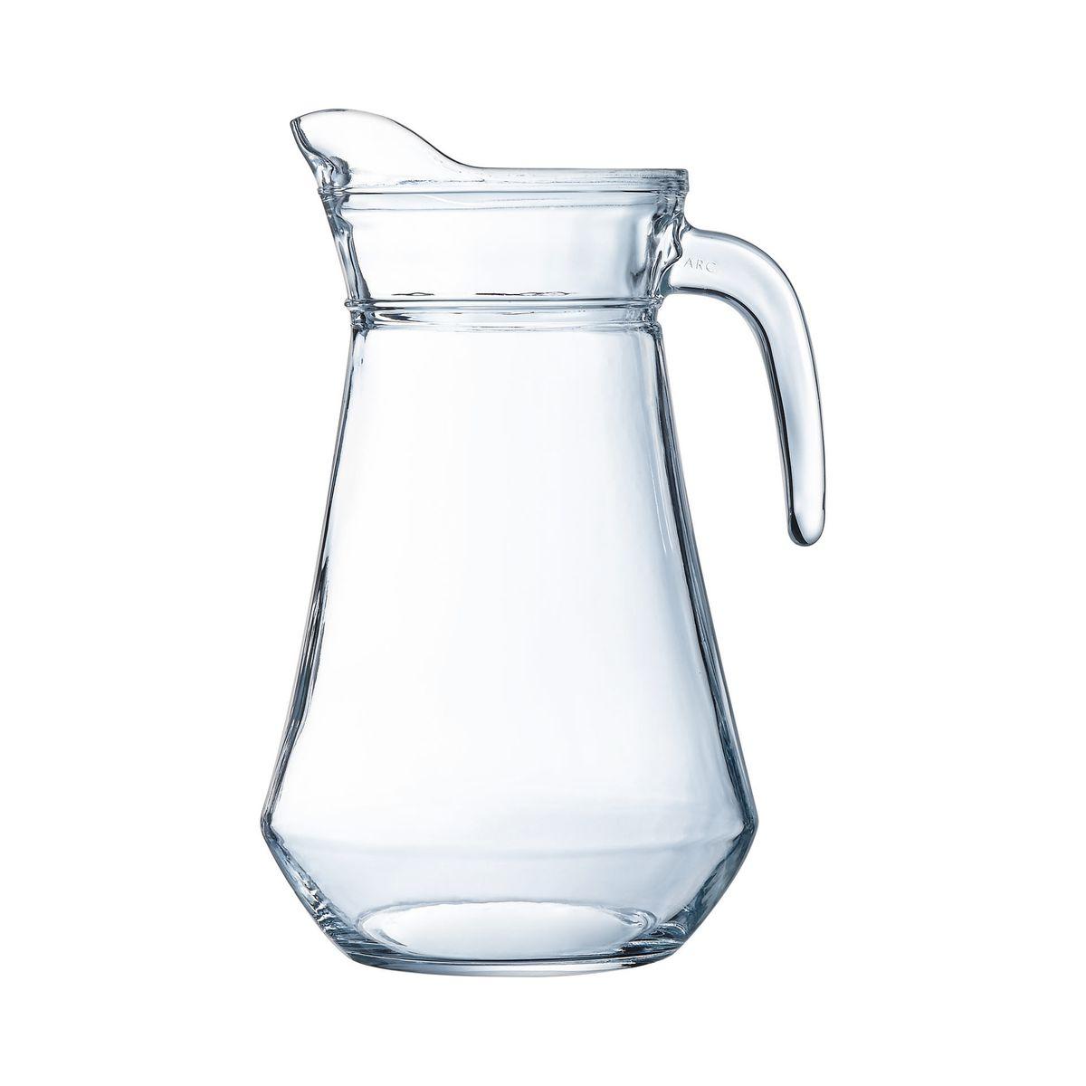 Broc en verre avec bec verseur et poignée 1,6L