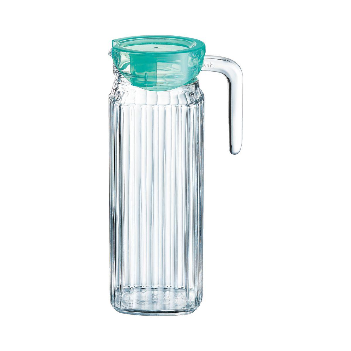 Broc en verre ultra transparent avec bec 1,1L