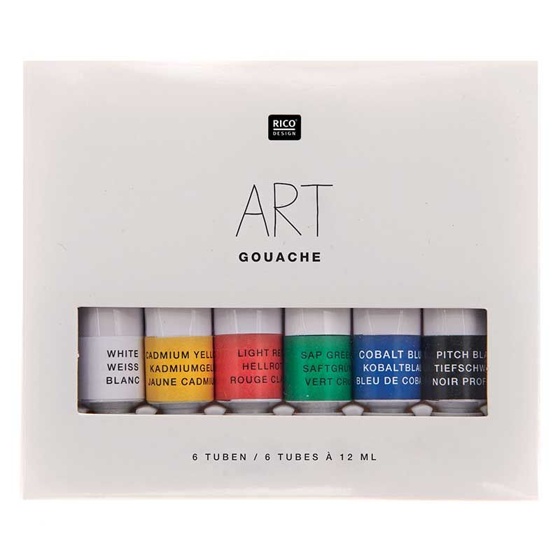 Set peinture gouache couleurs basiques 6x12ml