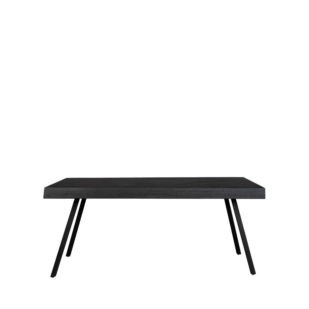 Table à manger en teck recyclé 160x78cm noir