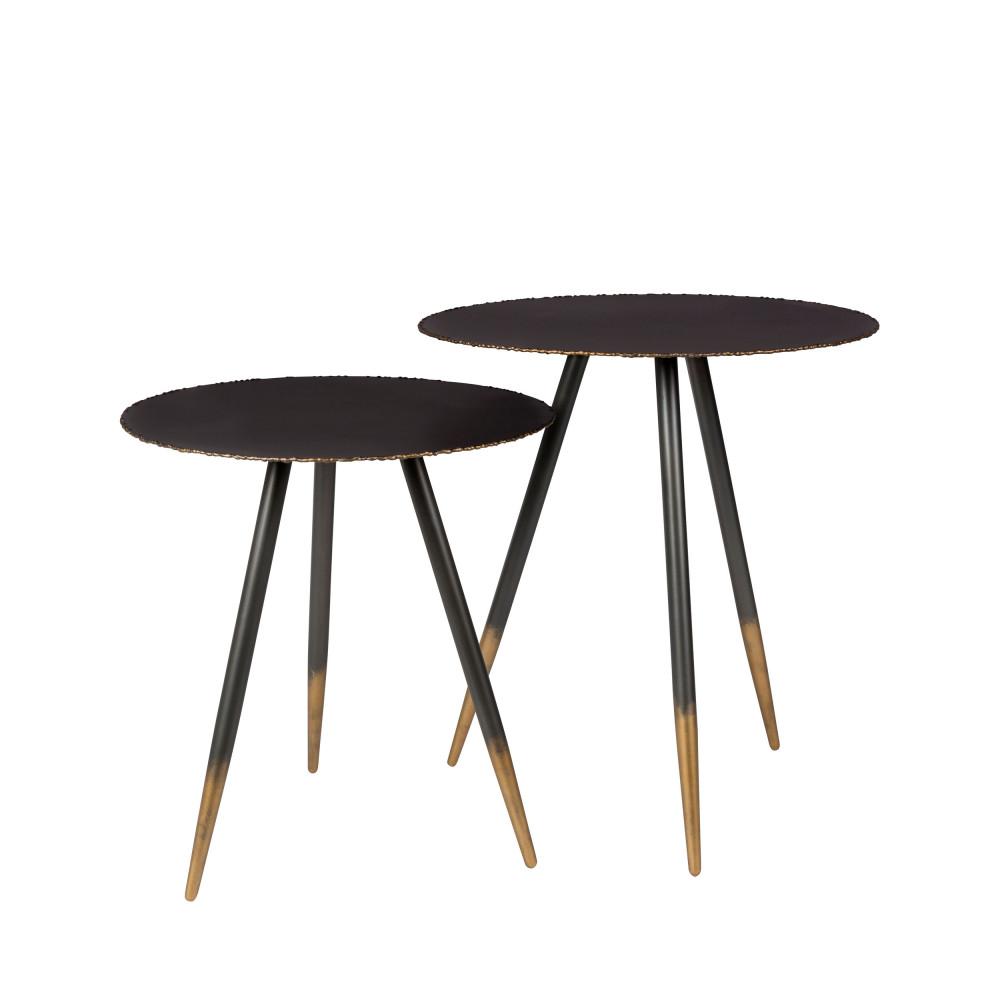 2 tables basses en métal