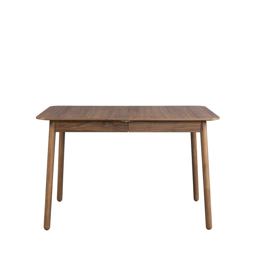 Table à manger extensible 120-162x80cm bois foncé