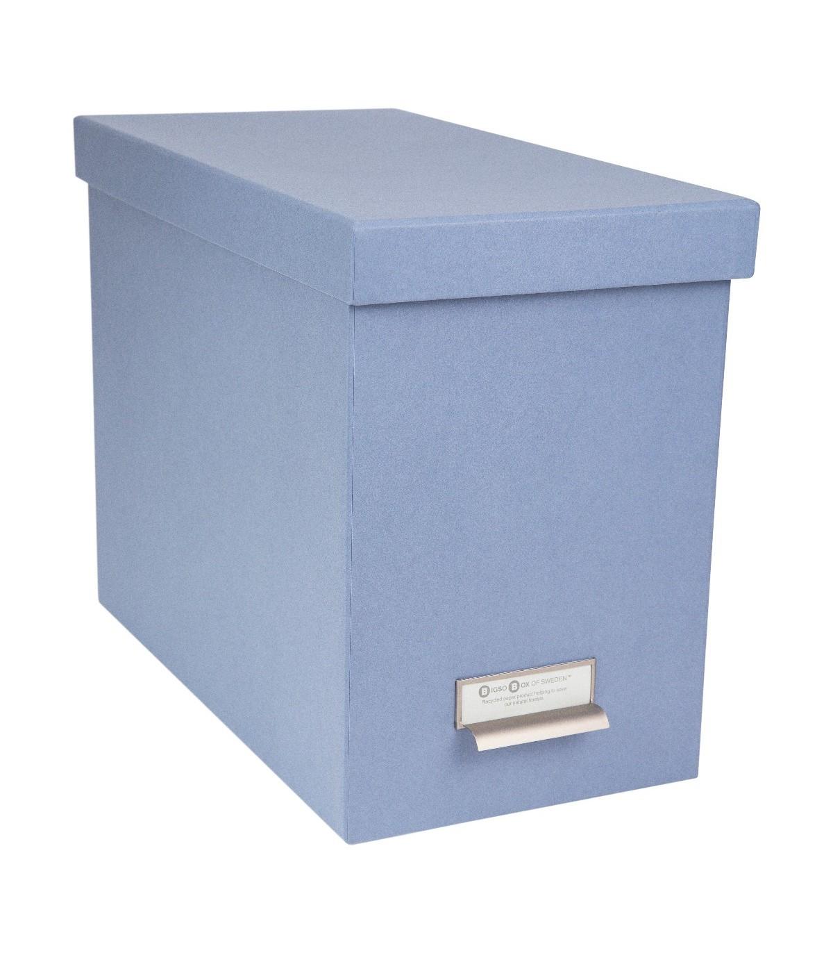 Boîte de classement pour dossiers - Bleu