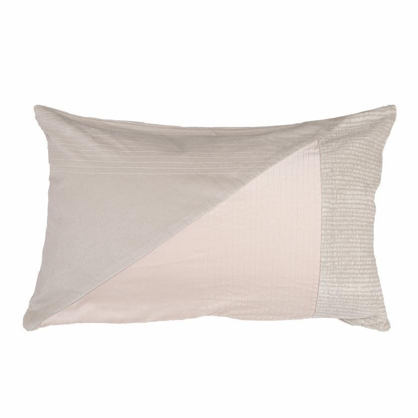 Coussin patchwork en velours rse 40x60 cm