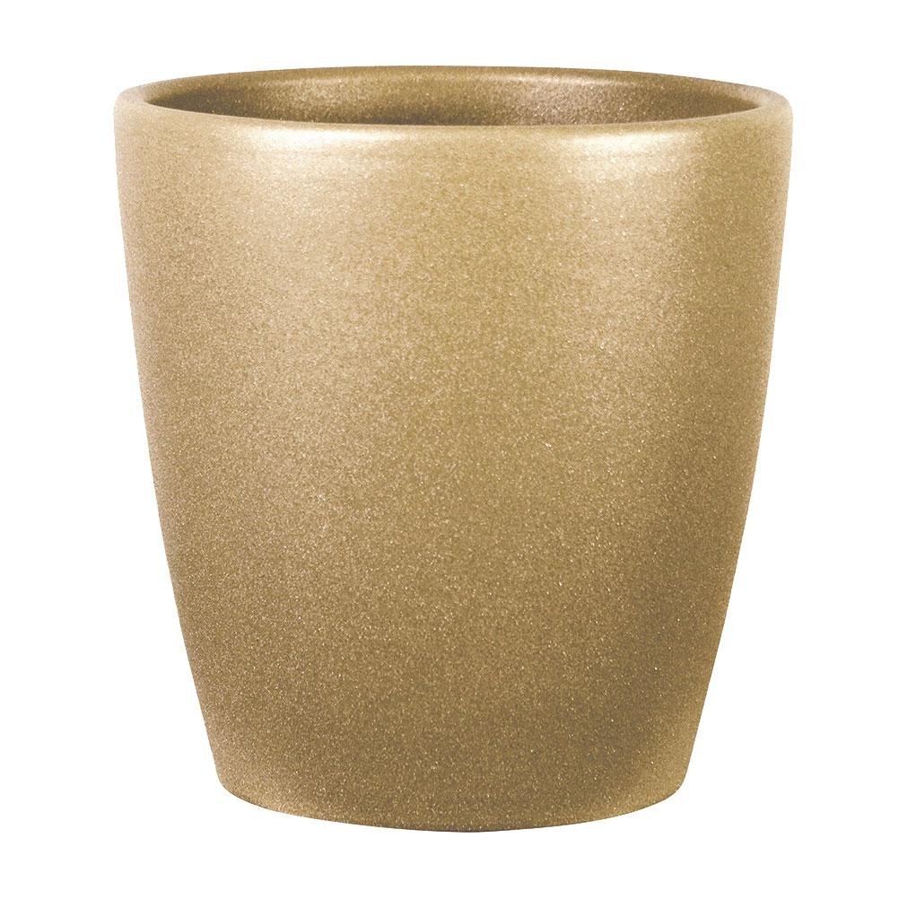 Cache pot gold en céramique H14cm