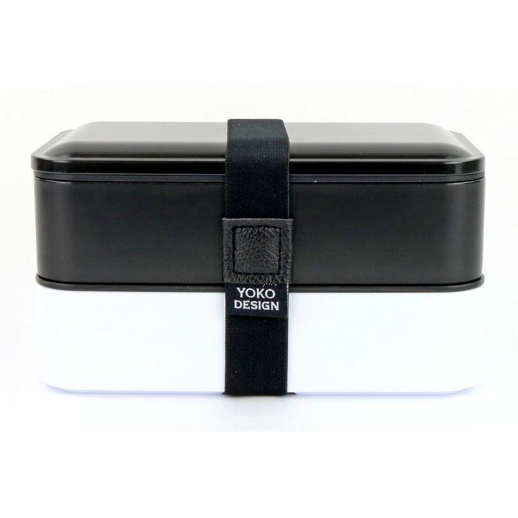 Lunch box 2 etages coloris noir 1200 ml