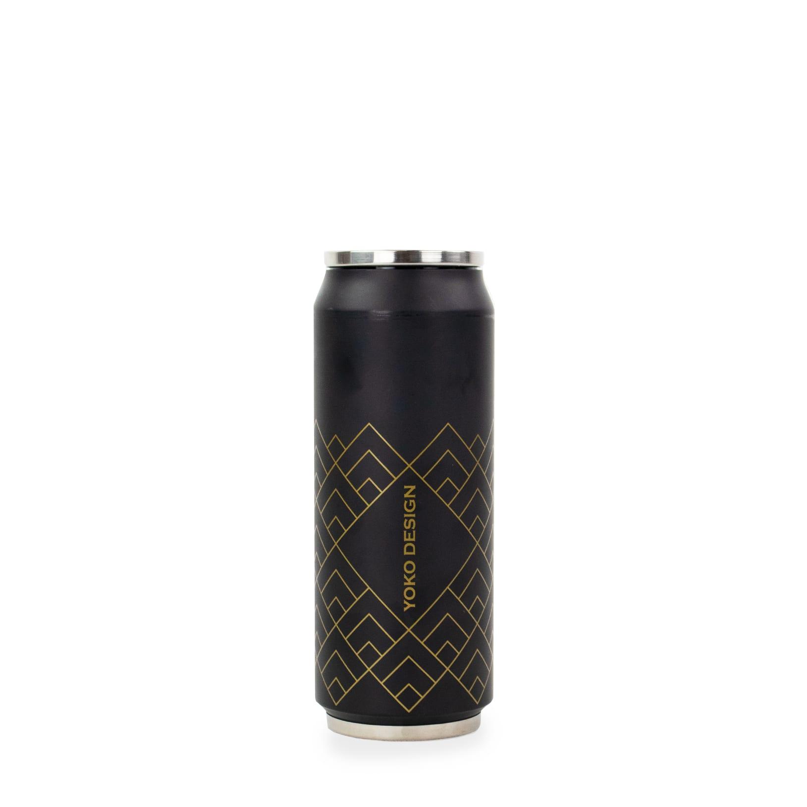 Canette isotherme art deco noire 500 ml