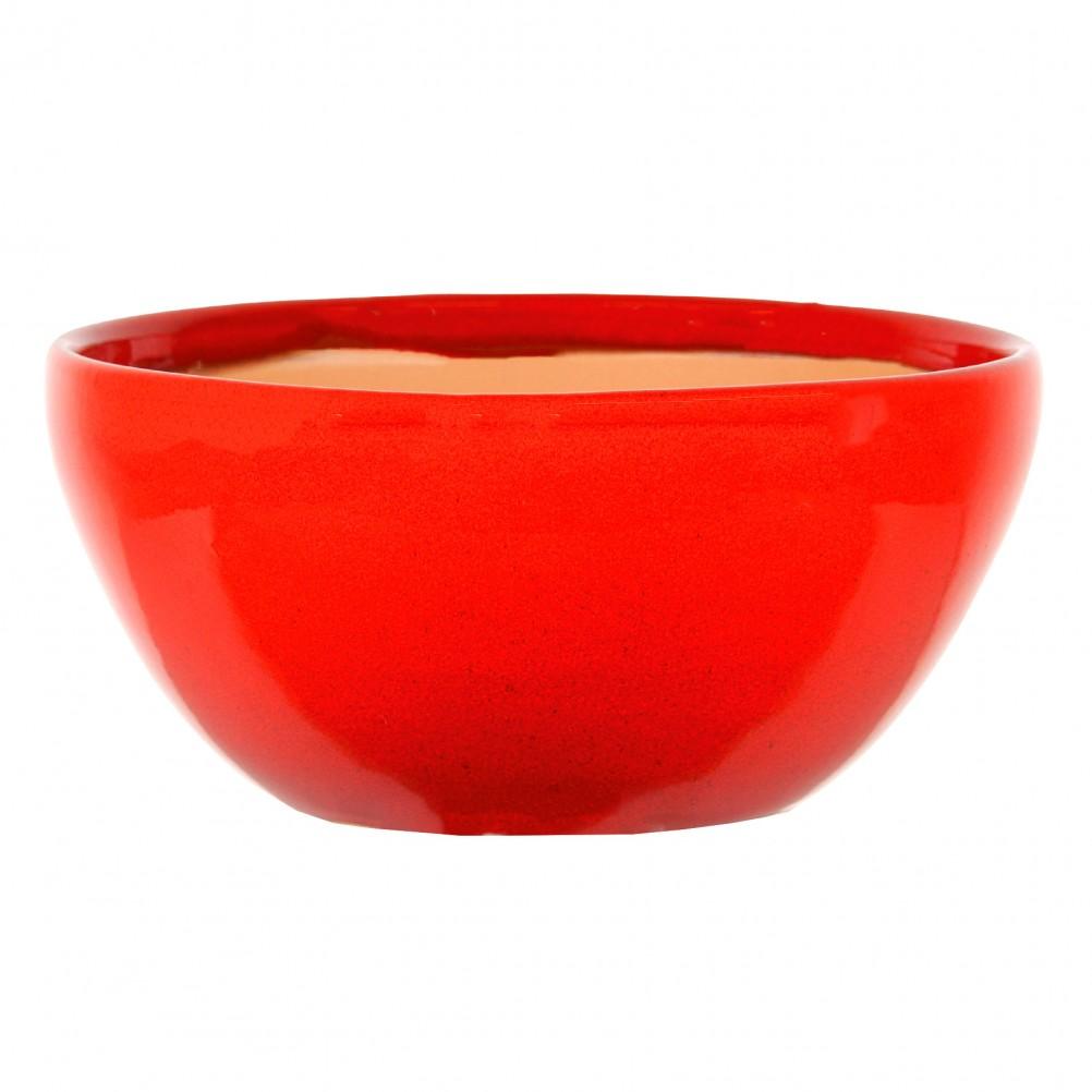 Cache pot rouge en terre cuite H13cm