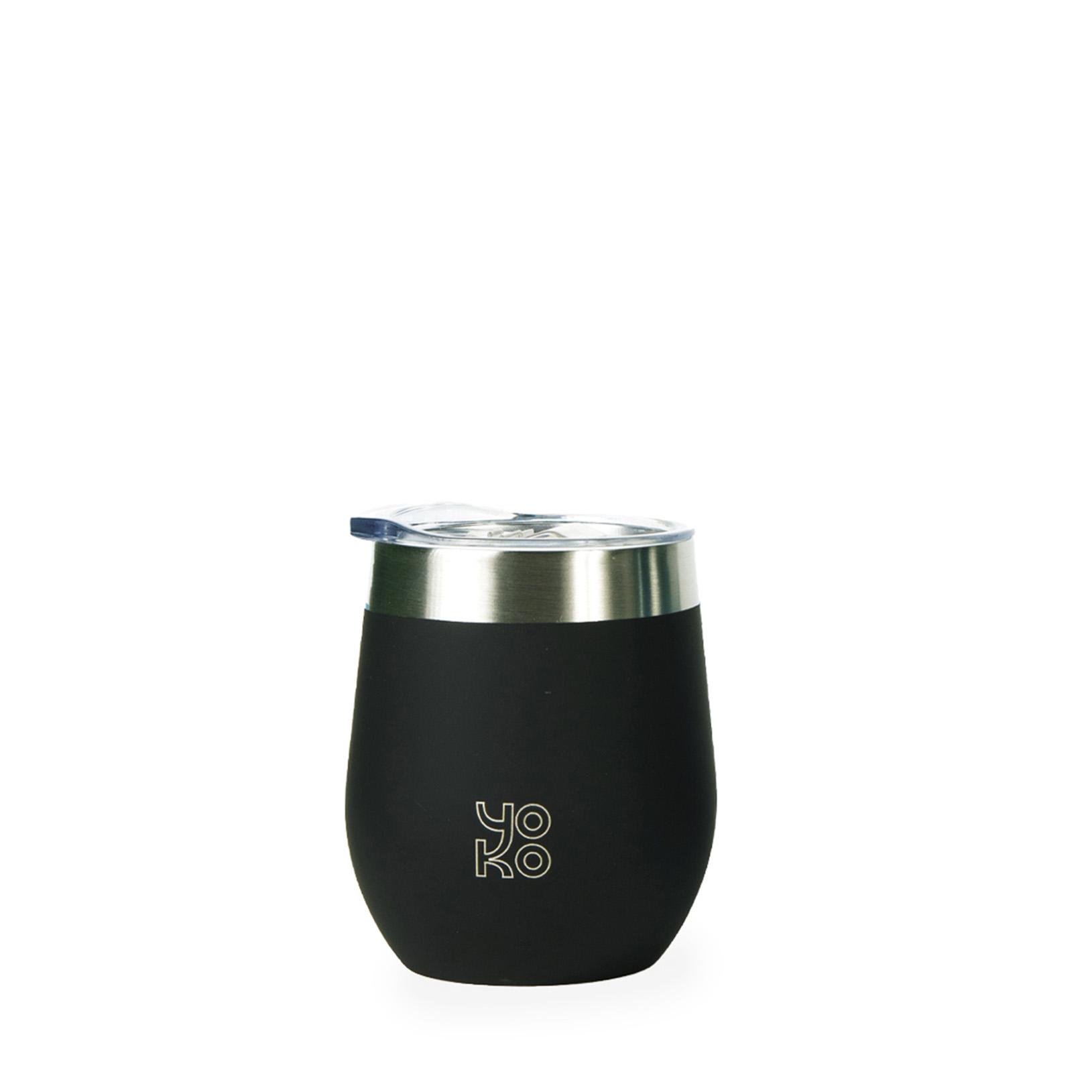 Mug isotherme avec couvercles 250 ml noir