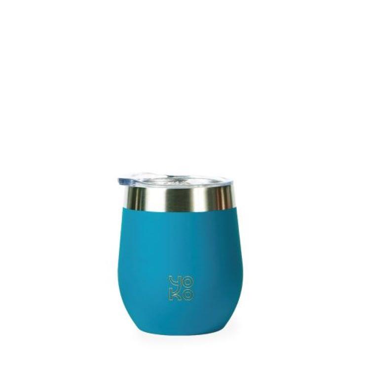Mugs isothermes avec couvercles 250 ml bleu canard
