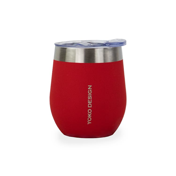 Mugs isothermes avec couvercles 250 ml rouge
