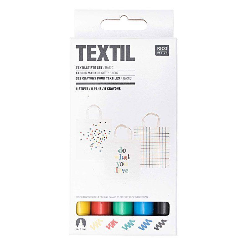 5 feutres pour textiles