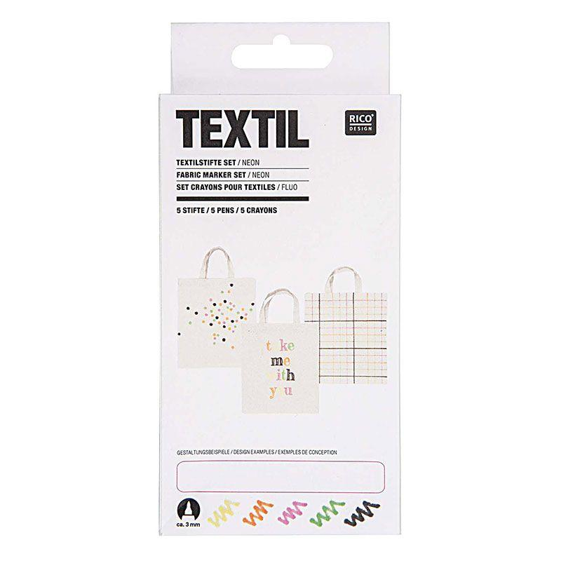 5 feutres pour textiles fashion