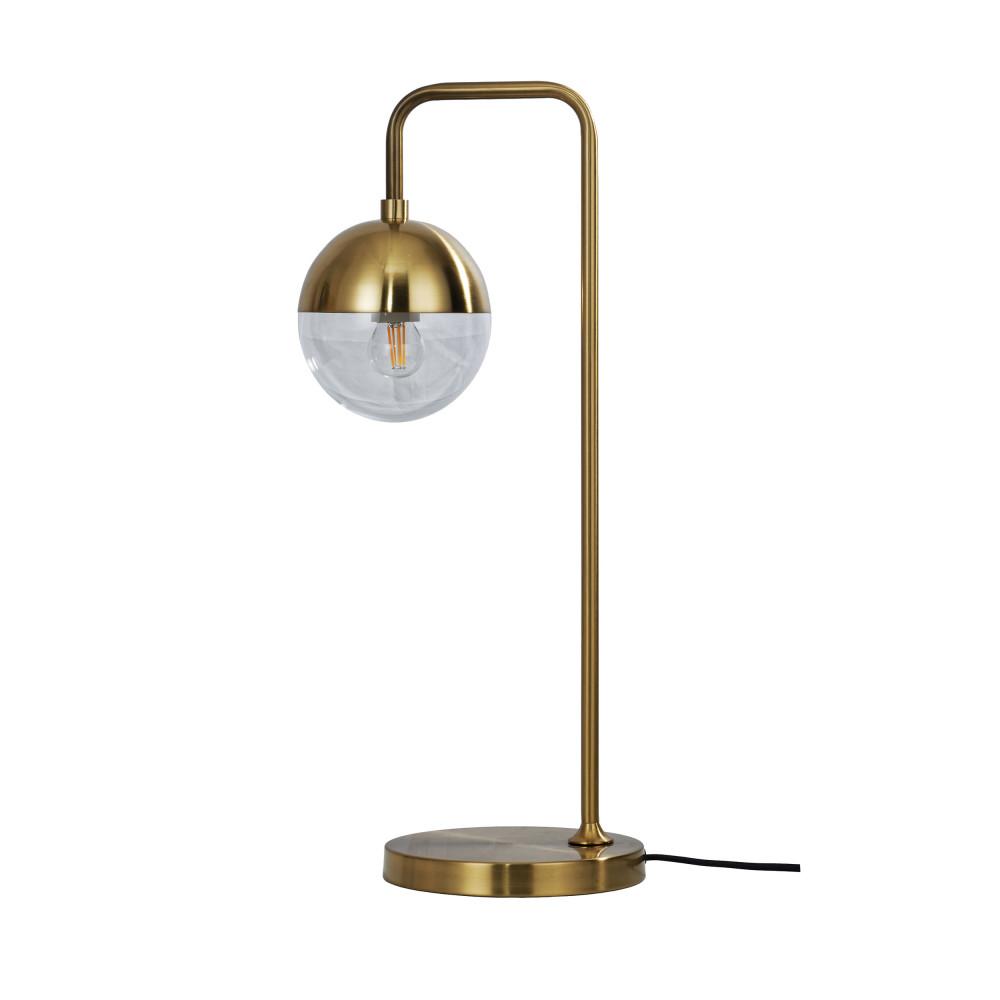 Lampe à poser vintage en métal laiton