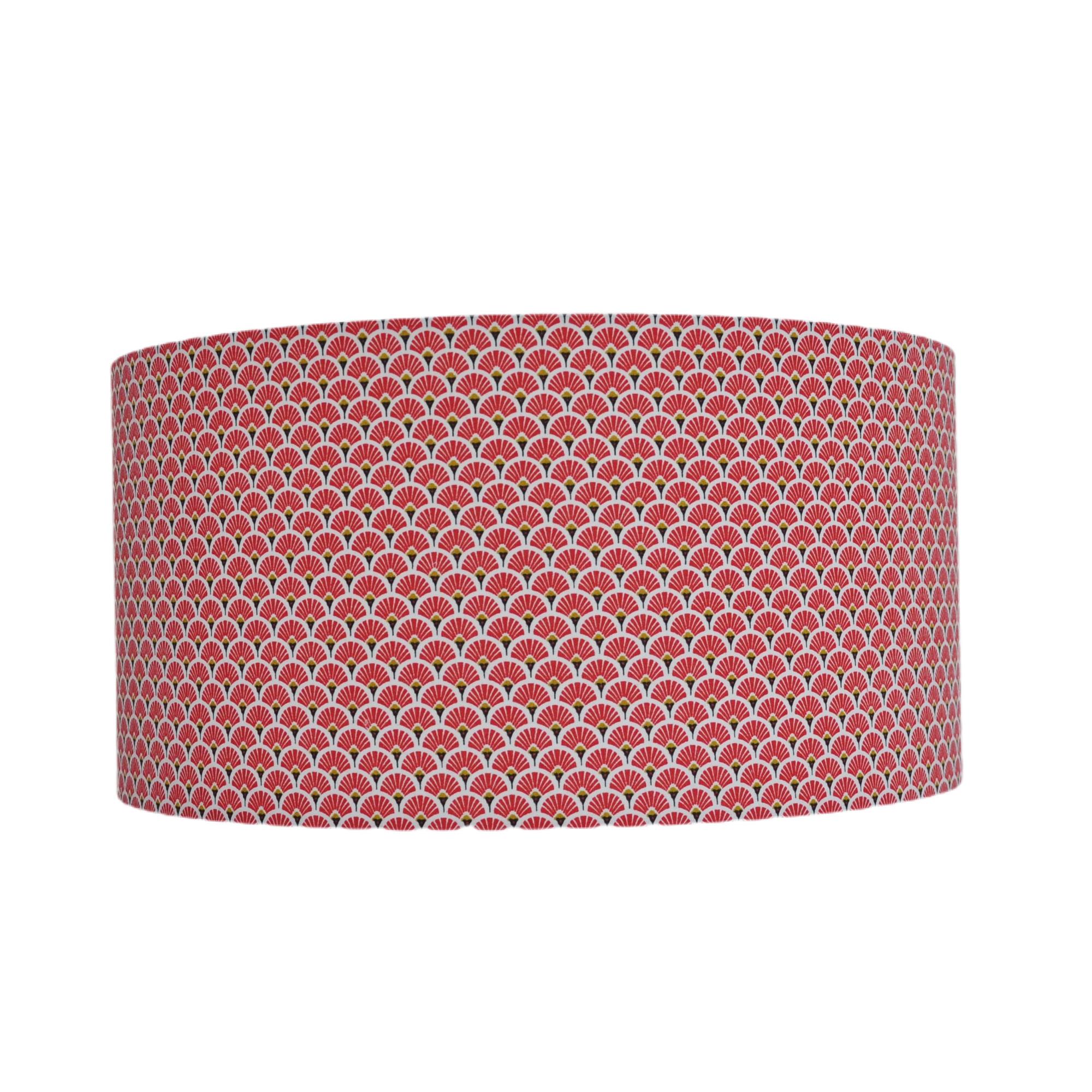Suspension eventail rouge et or diamètre 15 cm