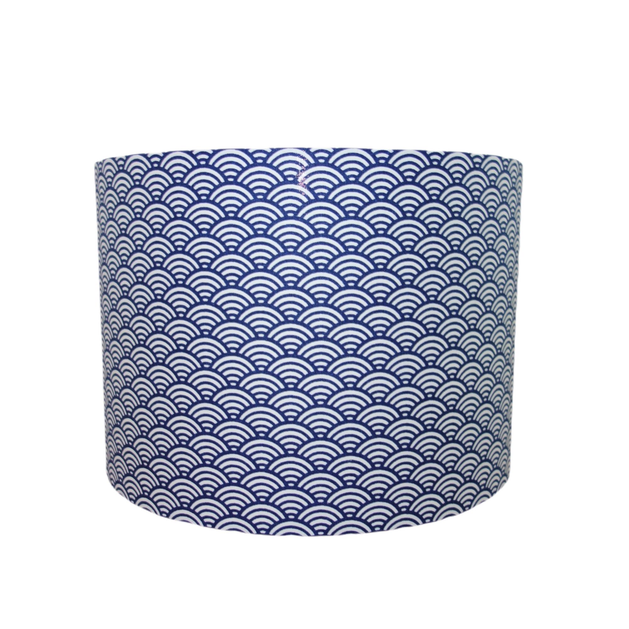 Suspension vague bleu marine diamètre 15 cm