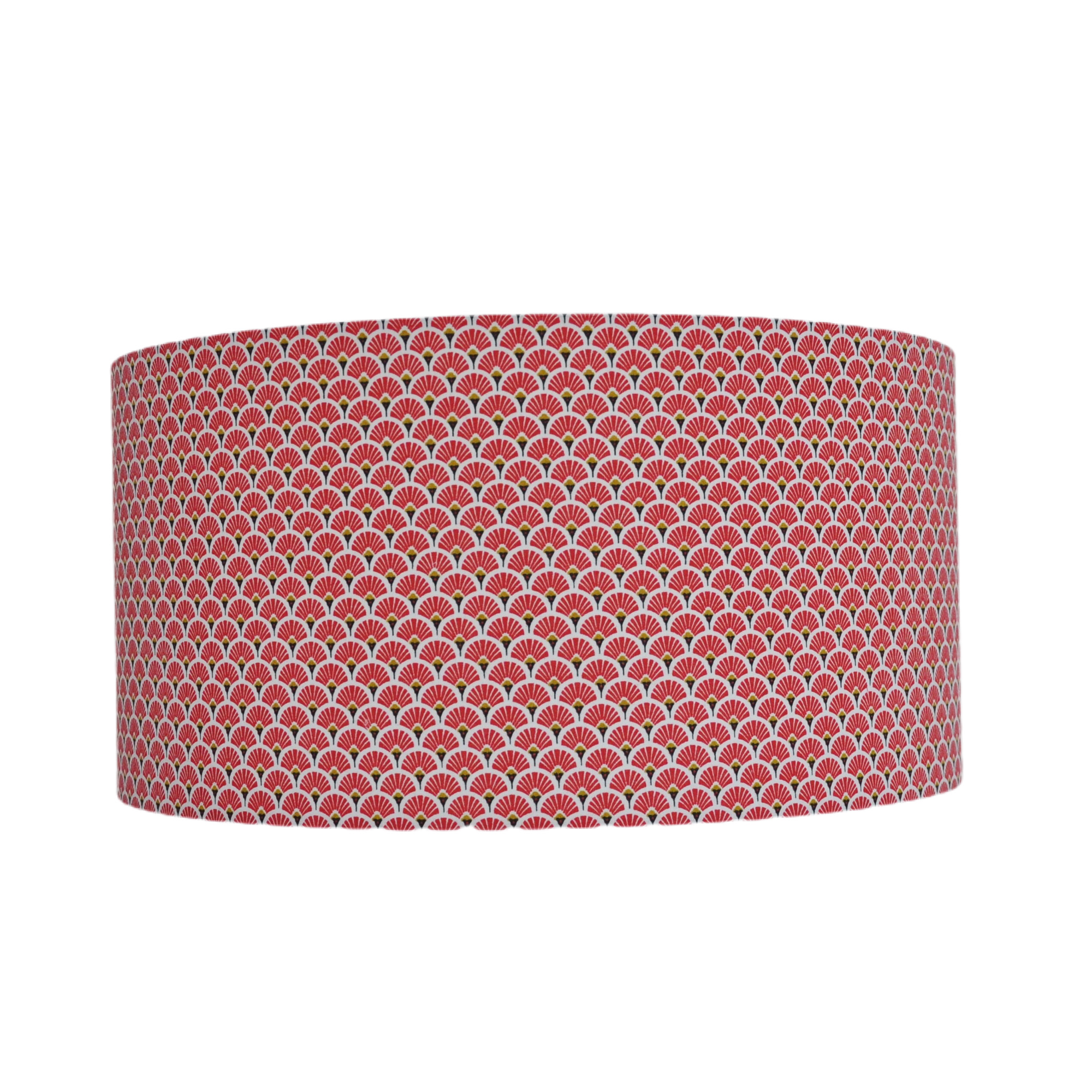 Suspension eventail rouge et or diamètre 25 cm
